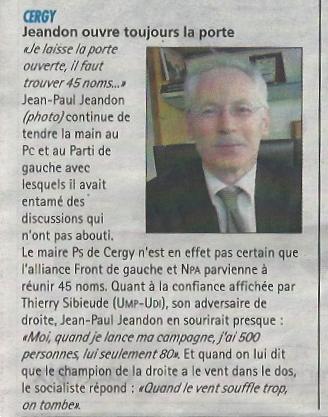 Jeandon Porte ouverte La Gazette
