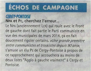 NPA et PC La Gazette